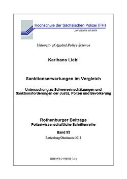Sanktionserwartungen im Vergleich von Liebl,  Karlhans