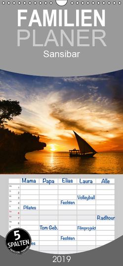 Sansibar – Familienplaner hoch (Wandkalender 2019 , 21 cm x 45 cm, hoch) von Thomas Deter,  ©