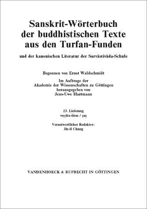 Sanskrit-Wörterbuch der buddhistischen Texte aus den Turfan-Funden. Lieferung 23 von Hartmann,  Jens-Uwe