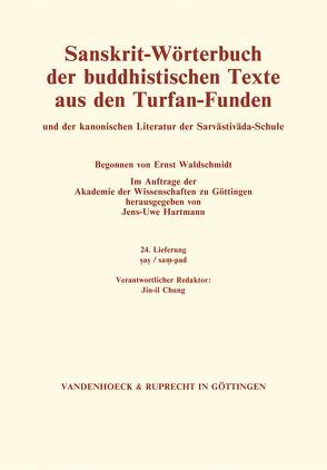 Sanskrit-Wörterbuch der buddhistischen Texte aus den Turfan-Funden. Lieferung 24 von Hartmann,  Jens-Uwe
