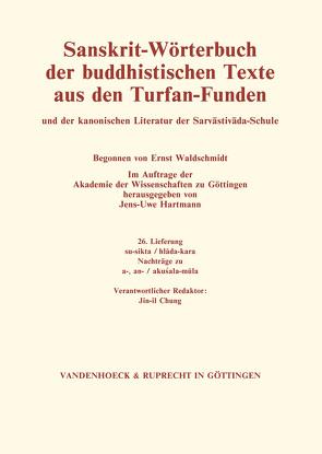 Sanskrit-Wörterbuch der buddhistischen Texte aus den Turfan-Funden. Lieferung 26 von Hartmann,  Jens-Uwe