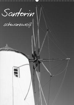 Santorin schwarzweiß (Wandkalender 2018 DIN A2 hoch) von Reuke,  Sabine