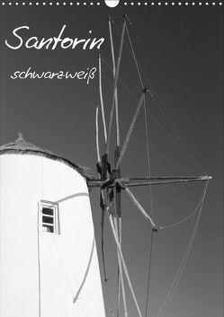 Santorin schwarzweiß (Wandkalender 2019 DIN A3 hoch) von Reuke,  Sabine