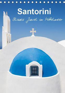 Santorini – Blues Juwel im Mittelmeer – (Tischkalender 2019 DIN A5 hoch) von Reuke,  Sabine