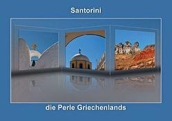 Santorini – die Perle Griechenlands (Posterbuch DIN A2 quer) von Hobscheidt,  Ernst