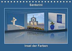 Santorini Insel der Farben (Tischkalender 2019 DIN A5 quer) von Hobscheidt,  Ernst