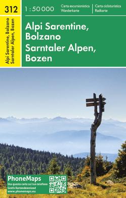 Sarntaler Alpen, Bozen, Wander – Radkarte 1 : 50 000 von FREYTAG - BERNDT,  spol. s r.o.