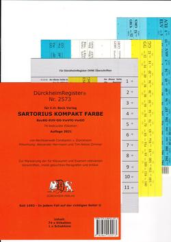 SARTORIUS KOMPAKT Dürckheim-Griffregister Nr. 2573 (2019) von Dürckheim,  Constantin