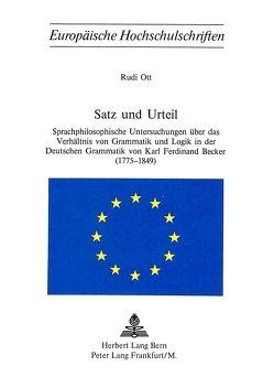 Satz und Urteil von Ott,  Rudi