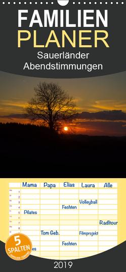 Sauerländer Abendstimmungen – Familienplaner hoch (Wandkalender 2019 , 21 cm x 45 cm, hoch) von Rein,  Simone