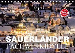 Sauerländer Fachwerkidylle (Tischkalender 2019 DIN A5 quer) von Bücker,  Heidi