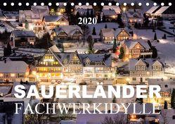 Sauerländer Fachwerkidylle (Tischkalender 2020 DIN A5 quer) von Bücker,  Heidi