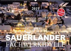 Sauerländer Fachwerkidylle (Wandkalender 2019 DIN A2 quer) von Bücker,  Heidi