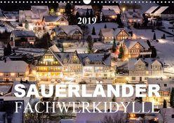 Sauerländer Fachwerkidylle (Wandkalender 2019 DIN A3 quer) von Bücker,  Heidi