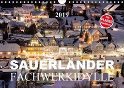 Sauerländer Fachwerkidylle (Wandkalender 2019 DIN A4 quer) von Bücker,  Heidi