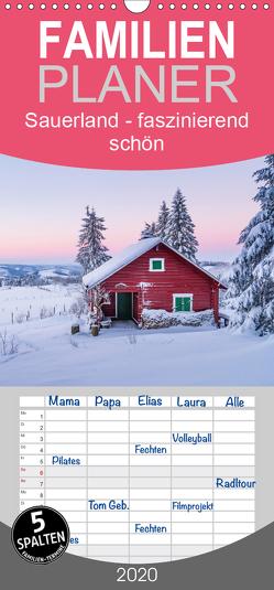 Sauerland – faszinierend schön – Familienplaner hoch (Wandkalender 2020 , 21 cm x 45 cm, hoch) von Bücker,  Heidi