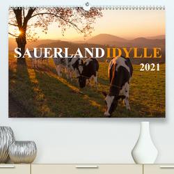 Sauerland-Idylle (Premium, hochwertiger DIN A2 Wandkalender 2021, Kunstdruck in Hochglanz) von Bücker,  Heidi