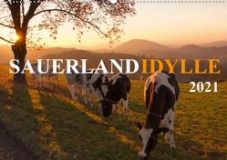 Sauerland-Idylle (Wandkalender 2021 DIN A2 quer) von Bücker,  Heidi