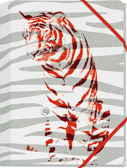 Save the Tiger Mini-Sammelmappe Motiv Roter Tiger von Schöll,  Stephan