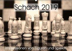 Schach 2019. Impressionen von Figuren und Spielen (Wandkalender 2019 DIN A2 quer) von Lehmann (Hrsg.),  Steffani