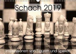 Schach 2019. Impressionen von Figuren und Spielen (Wandkalender 2019 DIN A3 quer) von Lehmann (Hrsg.),  Steffani