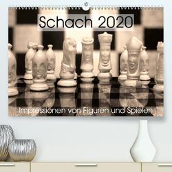 Schach 2020. Impressionen von Figuren und Spielen (Premium, hochwertiger DIN A2 Wandkalender 2020, Kunstdruck in Hochglanz) von Lehmann (Hrsg.),  Steffani