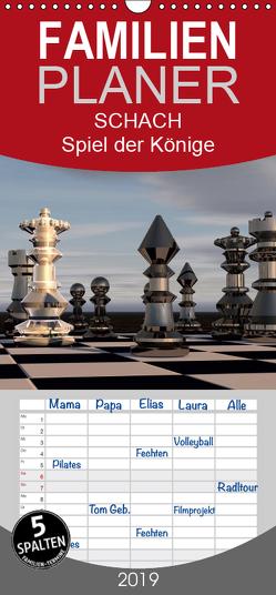 SCHACH – Spiel der Könige – Familienplaner hoch (Wandkalender 2019 , 21 cm x 45 cm, hoch) von Bleicher,  Renate