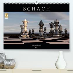 SCHACH – Spiel der Könige (Premium, hochwertiger DIN A2 Wandkalender 2021, Kunstdruck in Hochglanz) von Bleicher,  Renate