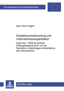 Schadensverantwortung und Unternehmensorganisation von Hilgers,  Marc Oliver