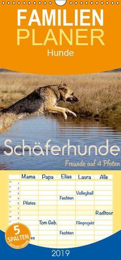 Schäferhunde – Freunde auf 4 Pfoten – Familienplaner hoch (Wandkalender 2019 , 21 cm x 45 cm, hoch) von Ebsen,  Natascha
