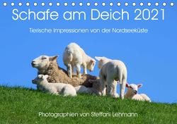 Schafe am Deich 2021. Tierische Impressionen von der Nordseeküste (Tischkalender 2021 DIN A5 quer) von Lehmann,  Steffani