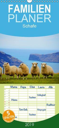 Schafe – Familienplaner hoch (Wandkalender 2019 , 21 cm x 45 cm, hoch) von Stanzer,  Elisabeth