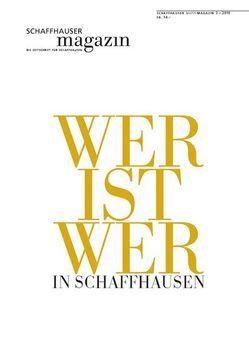 Schaffhauser Magazin 3/2010