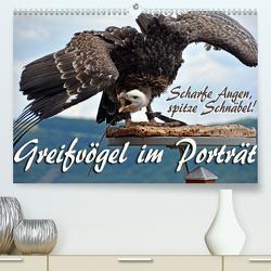 Scharfe Augen, spitze Schnäbel! Greifvögel im Porträt (Premium, hochwertiger DIN A2 Wandkalender 2020, Kunstdruck in Hochglanz) von Reiter,  Monika