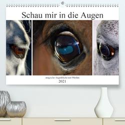 Schau mir in die Augen – magische Augenblicke mit Pferden (Premium, hochwertiger DIN A2 Wandkalender 2021, Kunstdruck in Hochglanz) von Fotokullt, Kull,  Isabell