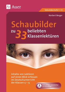 Schaubilder zu 33 beliebten Klassenlektüren von Berger,  Norbert