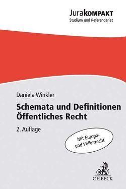 Schemata und Definitionen Öffentliches Recht von Winkler,  Daniela