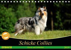 Schicke Collies (Tischkalender 2019 DIN A5 quer) von Janetzek,  Yvonne