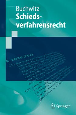 Schiedsverfahrensrecht von Buchwitz,  Wolfram