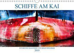 Schiffe am Kai (Wandkalender 2019 DIN A4 quer) von Bjeldbak,  Brian