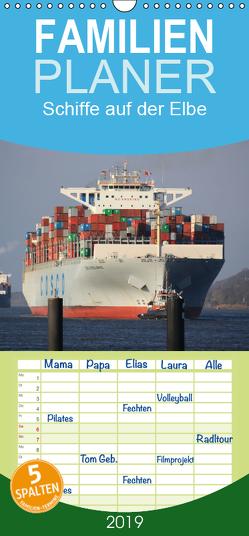 Schiffe auf der Elbe – Familienplaner hoch (Wandkalender 2019 , 21 cm x 45 cm, hoch) von Simonsen / Hamborg-Foto,  Andre