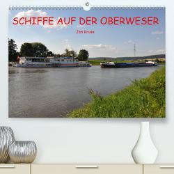 Schiffe auf der Oberweser (Premium, hochwertiger DIN A2 Wandkalender 2020, Kunstdruck in Hochglanz) von Kruse,  Jan