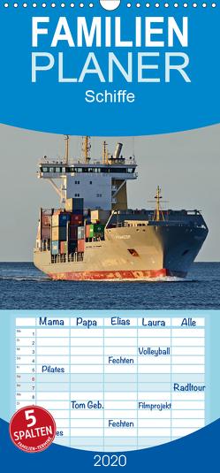 Schiffe – Familienplaner hoch (Wandkalender 2020 , 21 cm x 45 cm, hoch) von Kulartz,  Rainer
