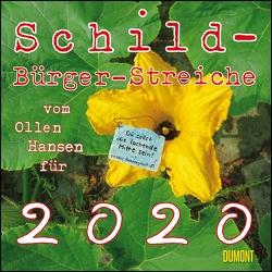 Schild-Bürger-Streiche 2020 – Von Pit Schulz – Broschürenkalender – Format 30 x 30 cm von DUMONT Kalenderverlag, Schulz,  Peter-T.