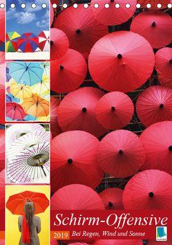 Schirm-Offensive: Bei Regen, Wind und Sonne (Tischkalender 2019 DIN A5 hoch) von CALVENDO