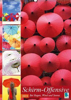 Schirm-Offensive: Bei Regen, Wind und Sonne (Wandkalender 2019 DIN A2 hoch) von CALVENDO