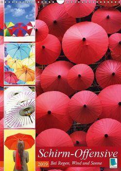 Schirm-Offensive: Bei Regen, Wind und Sonne (Wandkalender 2019 DIN A3 hoch) von CALVENDO