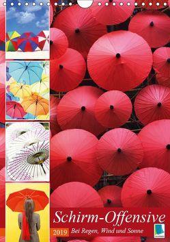 Schirm-Offensive: Bei Regen, Wind und Sonne (Wandkalender 2019 DIN A4 hoch) von CALVENDO