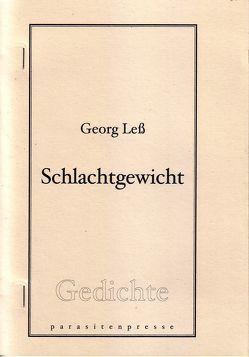Schlachtgewicht von Leß,  Georg