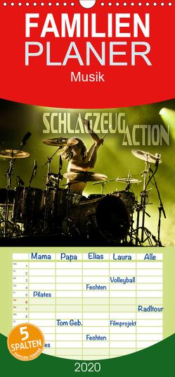 Schlagzeug Action – Familienplaner hoch (Wandkalender 2020 , 21 cm x 45 cm, hoch) von Bleicher,  Renate